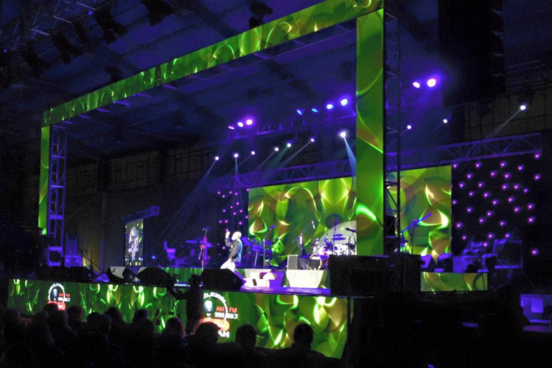 P6.944 Indoor Unique Stage Design Effects Huge LED Video Wall With Great Visual Impact