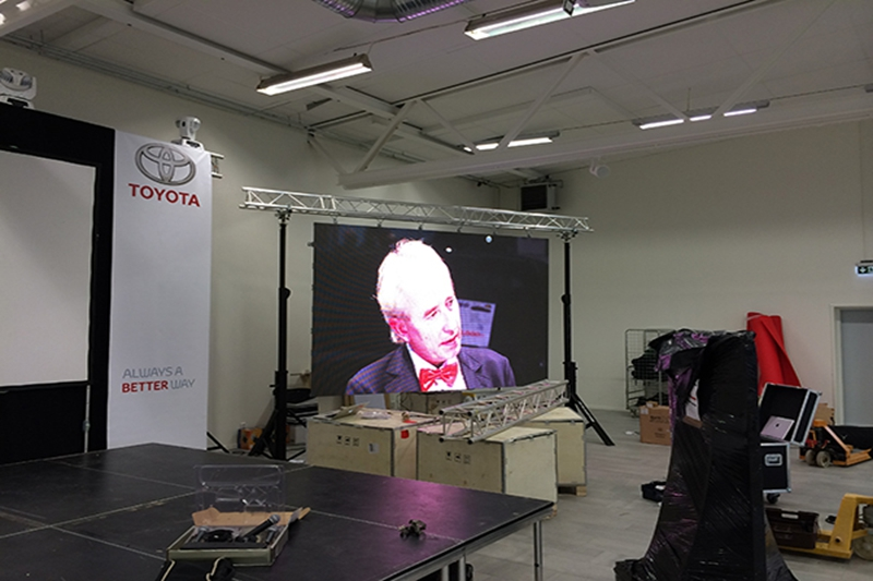 Eachinled LED display was used for Toyota events in Jönköping,Sweden