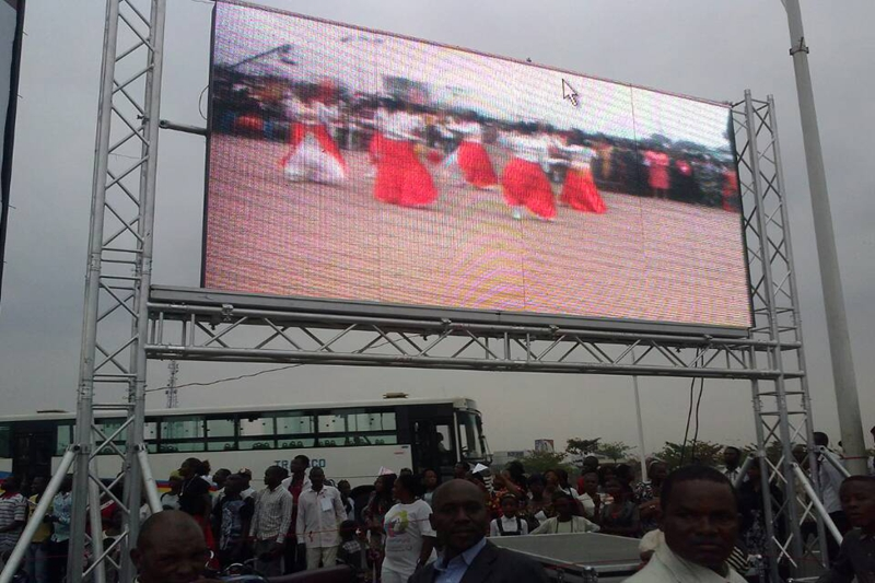 Project of P10 Outdoor Event LED Screen at Brazzaville,Congo Africa