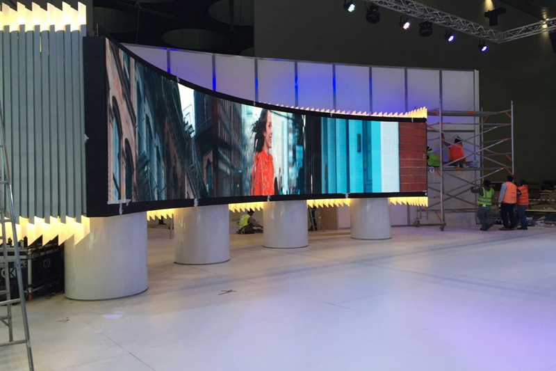 P3.91 Indoor Curved LED Video Wall for Exhibition Event in Doha,Qatar