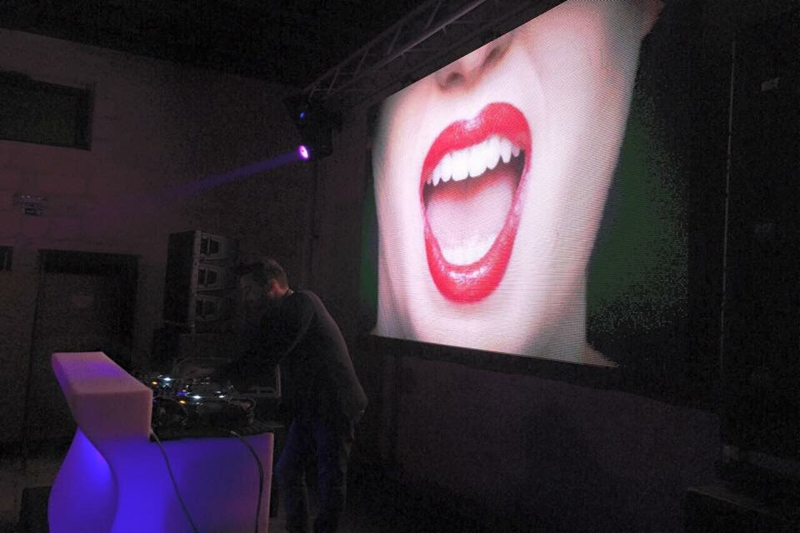P6.944 Indoor DJ Party Led Screen Wall in Genova,Italy