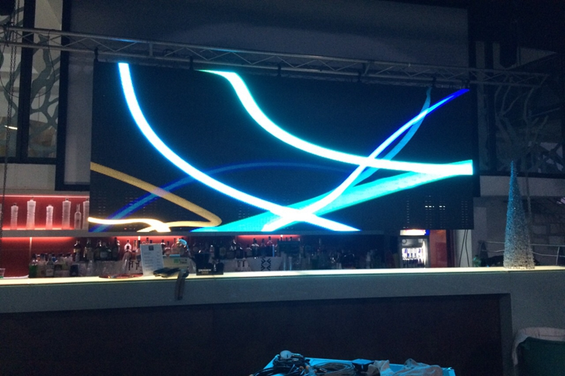 P6.944 Nightclub DJ LED Wall Screen for hanging installation in Italy
