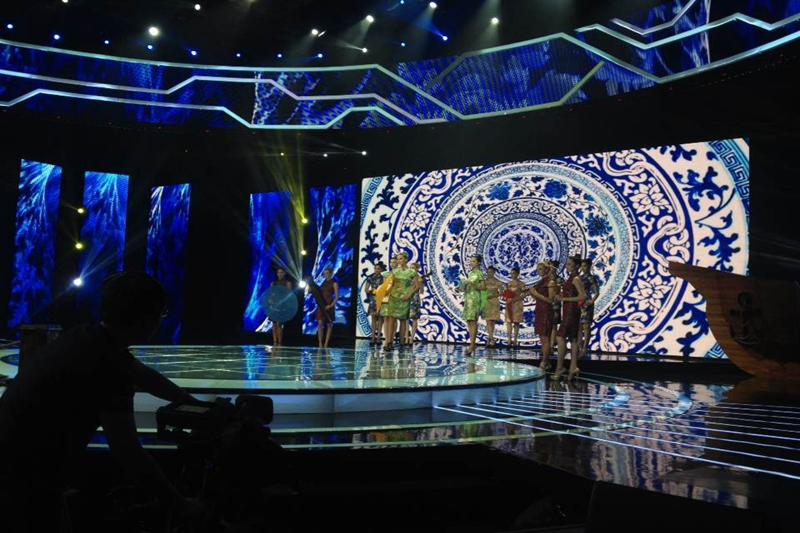 P4.81 Indoor HD LED Video Wall for Asian Super Model Contest 2014
