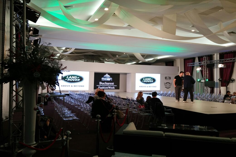 P3.91 Indoor Rental LED Video Wall for Bucharest Fashion Week in Romania