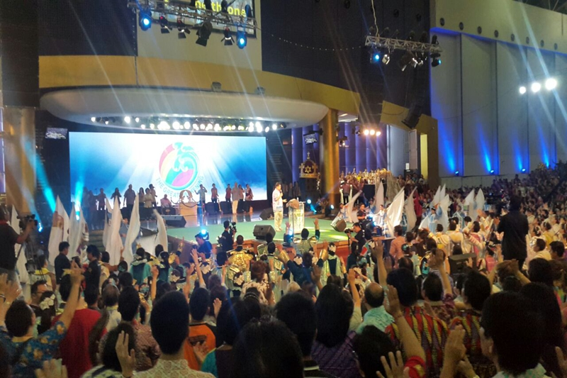 P6.944 Church Backdrop LED Display Screen in Indonesia