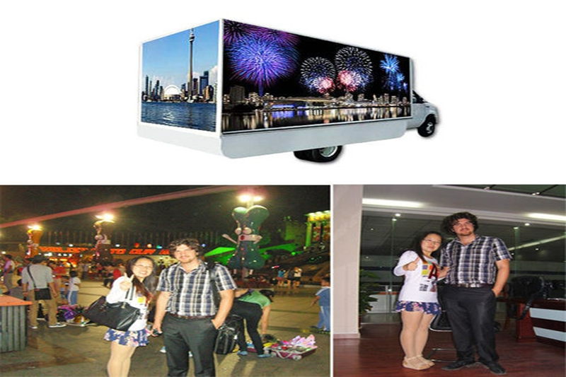 LED Mobile Truck Screen Purchased by Canadian Customer