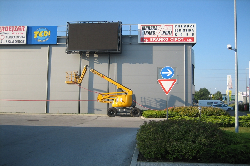 P10 Wall Mounted Advertising LED Sign in Slovenia