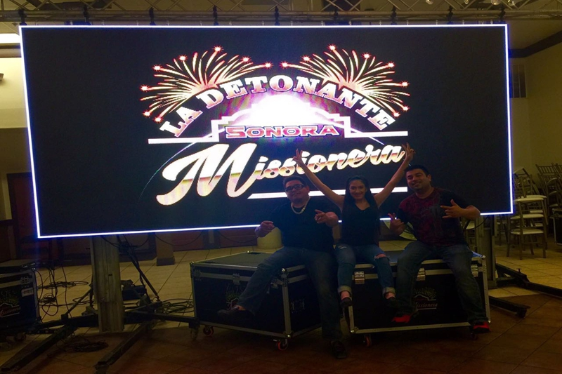 P6.944mm Bank Music Background LED Video Wall In Casino
