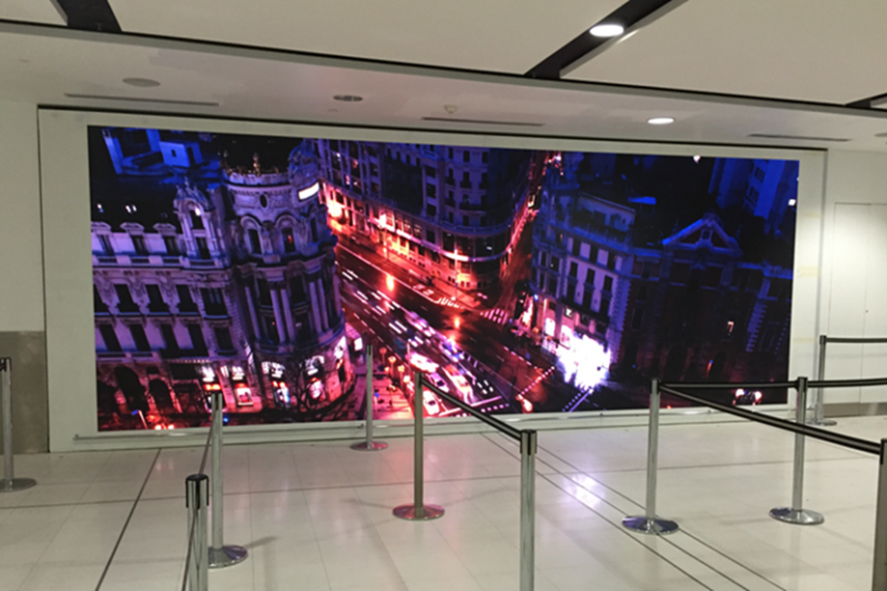 New custom from Malaysia for P5 Indoor Iron Led video wall