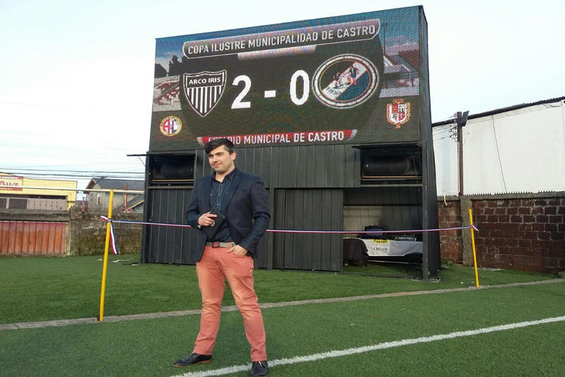 P16 Outdoor LED Scoreboard Display in Chile