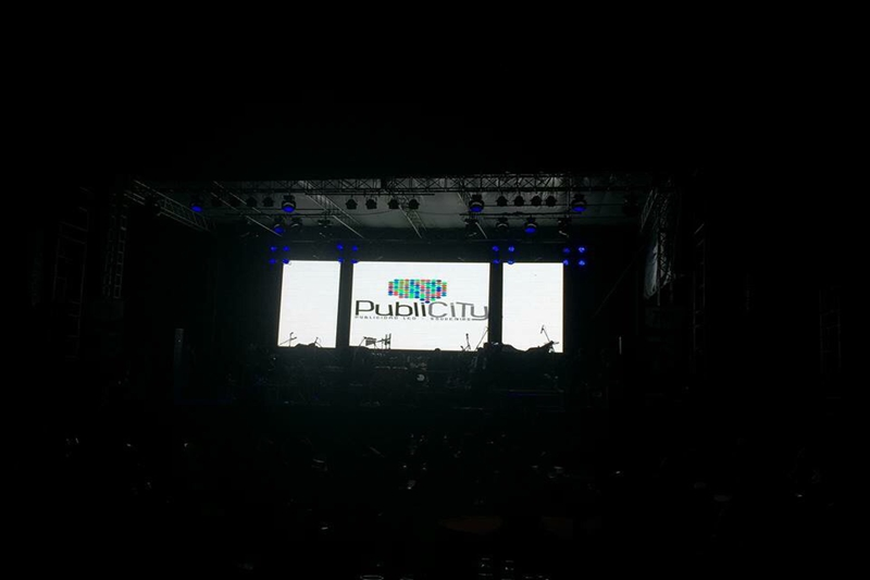 P5.95 Outdoor LED Stage Background Screen for concerts in Bolivia