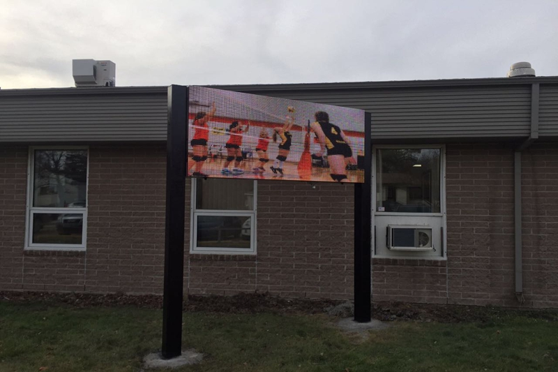 Outdoor Front service P12.8 LED Sign in Canada