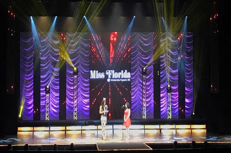P5.95 HD Events Rental LED Video Wall for Miss Florida