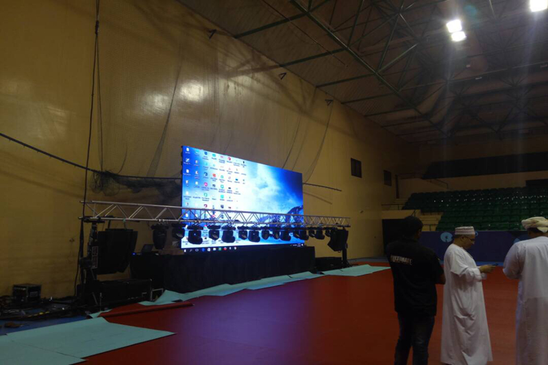 P4 Indoor Events LED Screen for Oman Table Tennis Committee