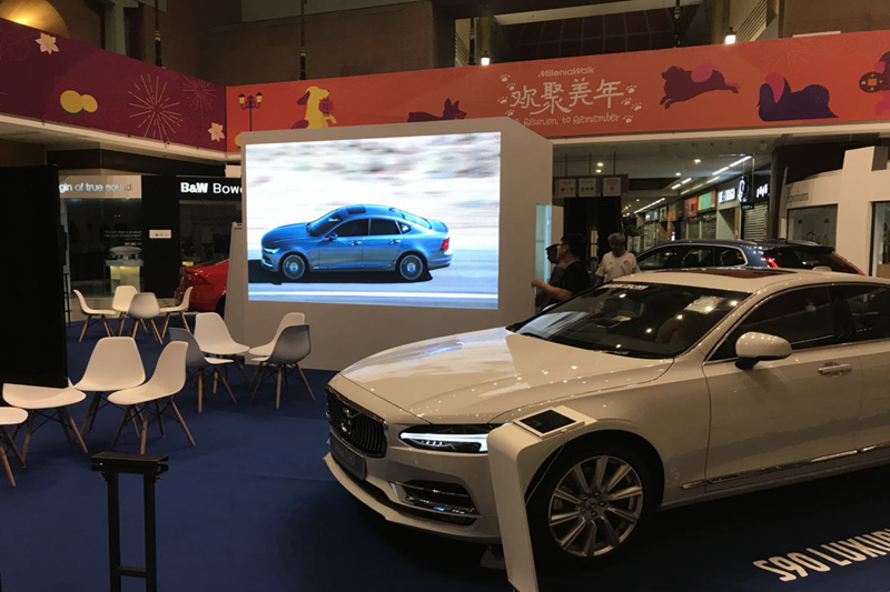 P3.91 Indoor LED Wall for Car Exhibition in Singapore