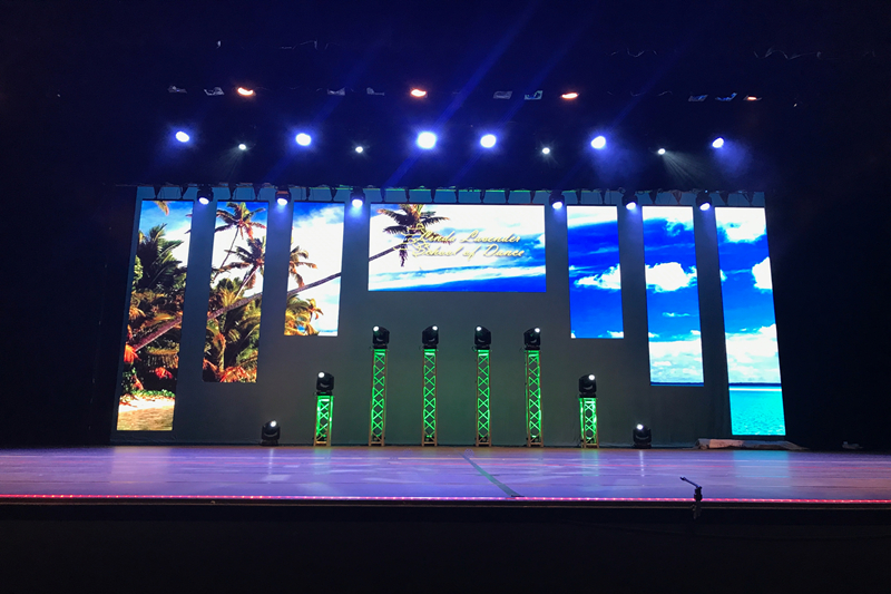 P5.95 Outdoor & Indoor LED Rental LED Wall for Dance Recital