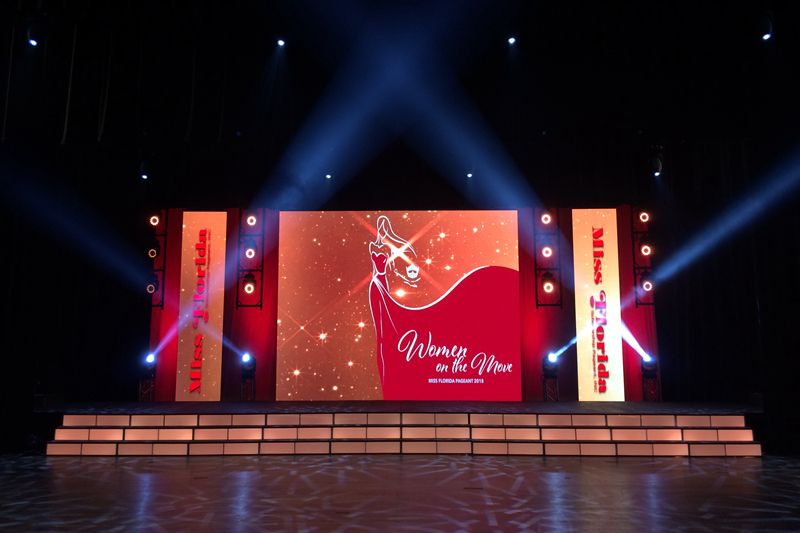 P5.95 LED Wall for Miss Florida In the US