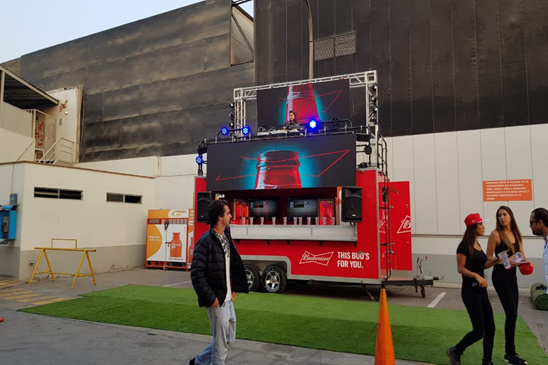 P3.91 Outdoor Mobile DJ Stage LED Screen In Lima